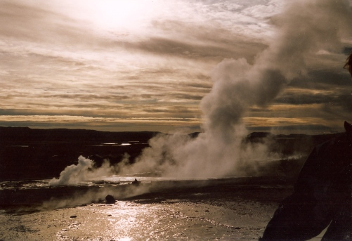 Just after erruption at Strokkur