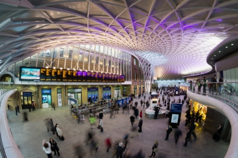 The brand new western concourse at London Kings Cross station