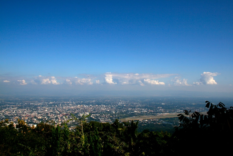 The view from Doi Suthep in Chiang Mai, Thailand