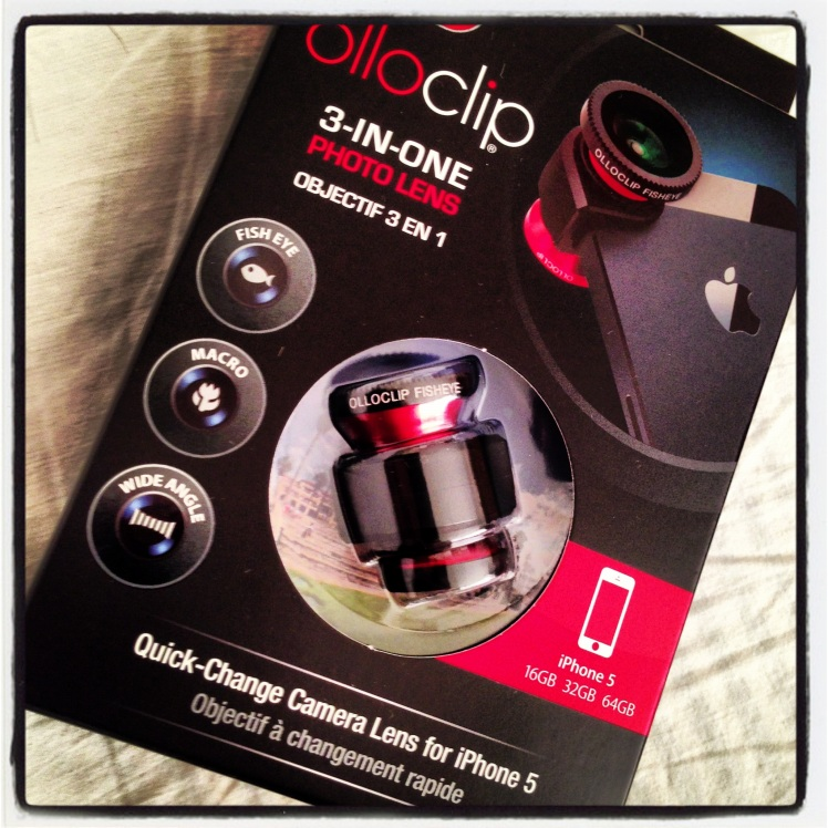 My Olloclip on the day it arrived!