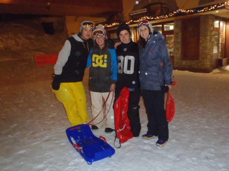 Post-sledging...the injuries were worth it!