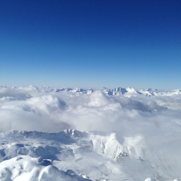 snow mountains france ski resort