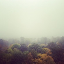 The not-so-awesome view from my balcony in London