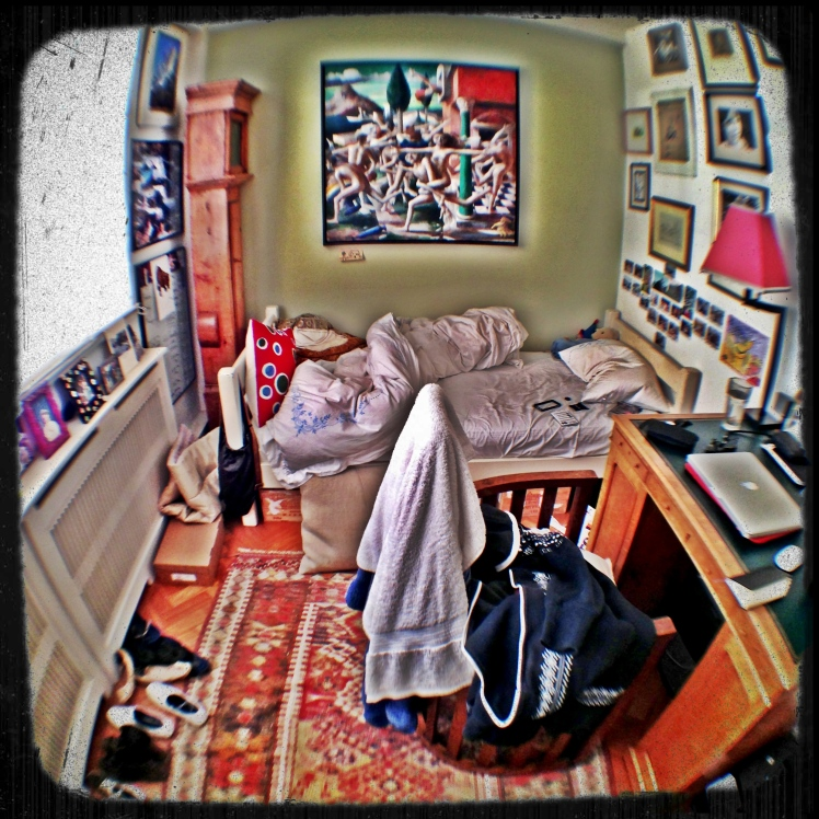 My awesome bedroom at home. Taken with an Olloclip