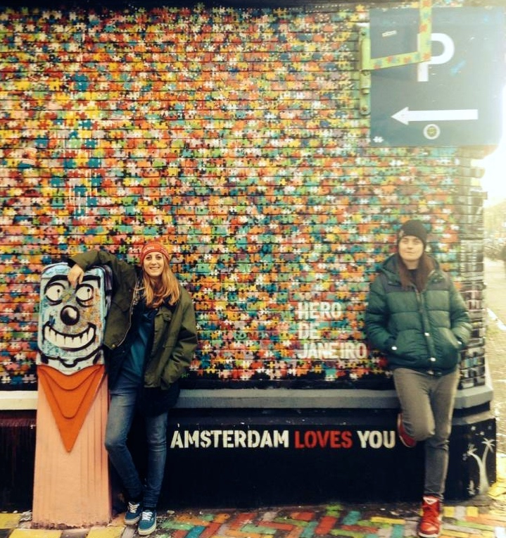 Amsterdam travel love graffiti