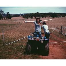 #farmlife. Me on Quad bike