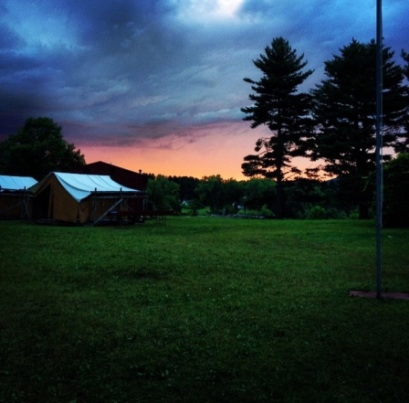summer camp sunset beauty