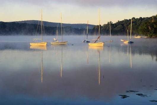 summer camp boats lake beauty