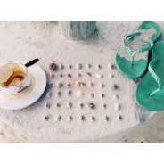 Coffee, Shells, Flip Flops