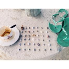 Coffee, Shells, Flip Flops