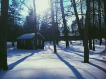 Snow light flare summer camp