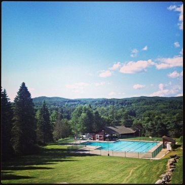 Camp Sloane pool view