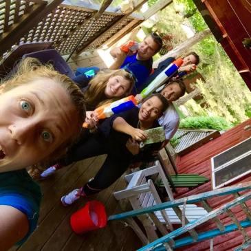 summer camp fun waterguns