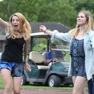 Dancing at summer camp