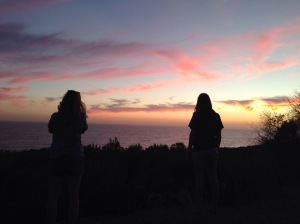 Sunsets road trip