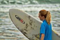 Surfer girl costa rica