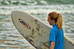 Surfer girl costa rica