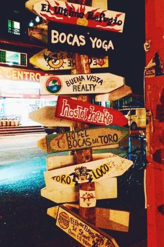 Bocas del Toro Signpost