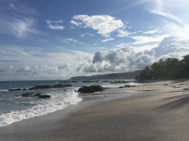 montezuma pristine beach white sand