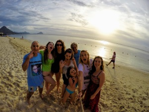 Family Photo Mauritius Sunset GoPro