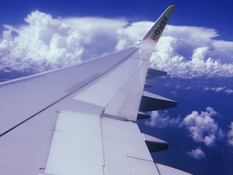 travel plane sky view